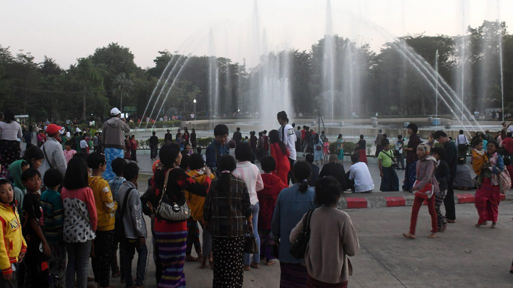 Water Fountain in Nay Pyi Taw makes visitors relax. Photo: HTEIN NAN NAW