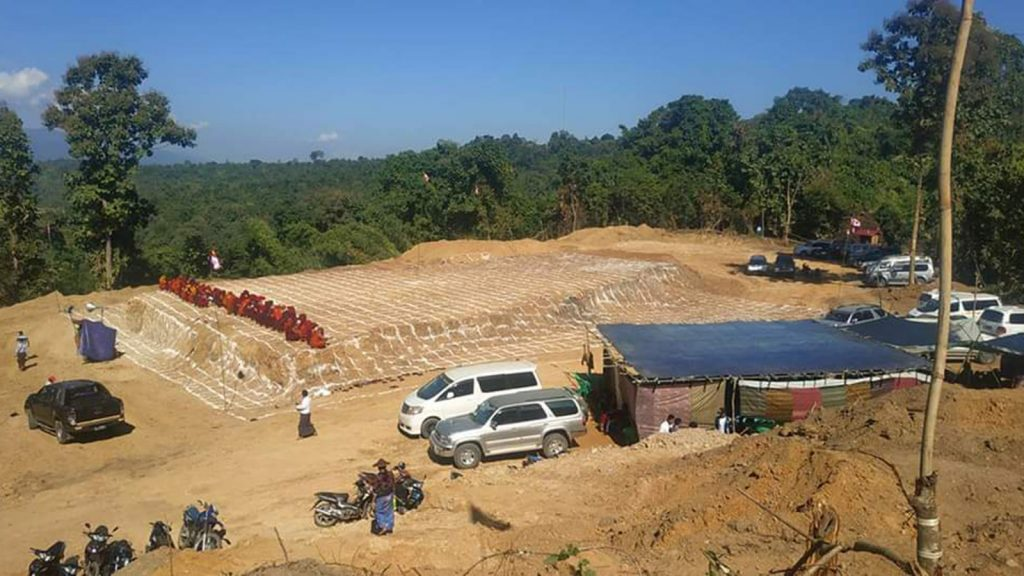 A compound  seen, in which  a jade pagoda will be built in Kachin State. Photo :Supplied