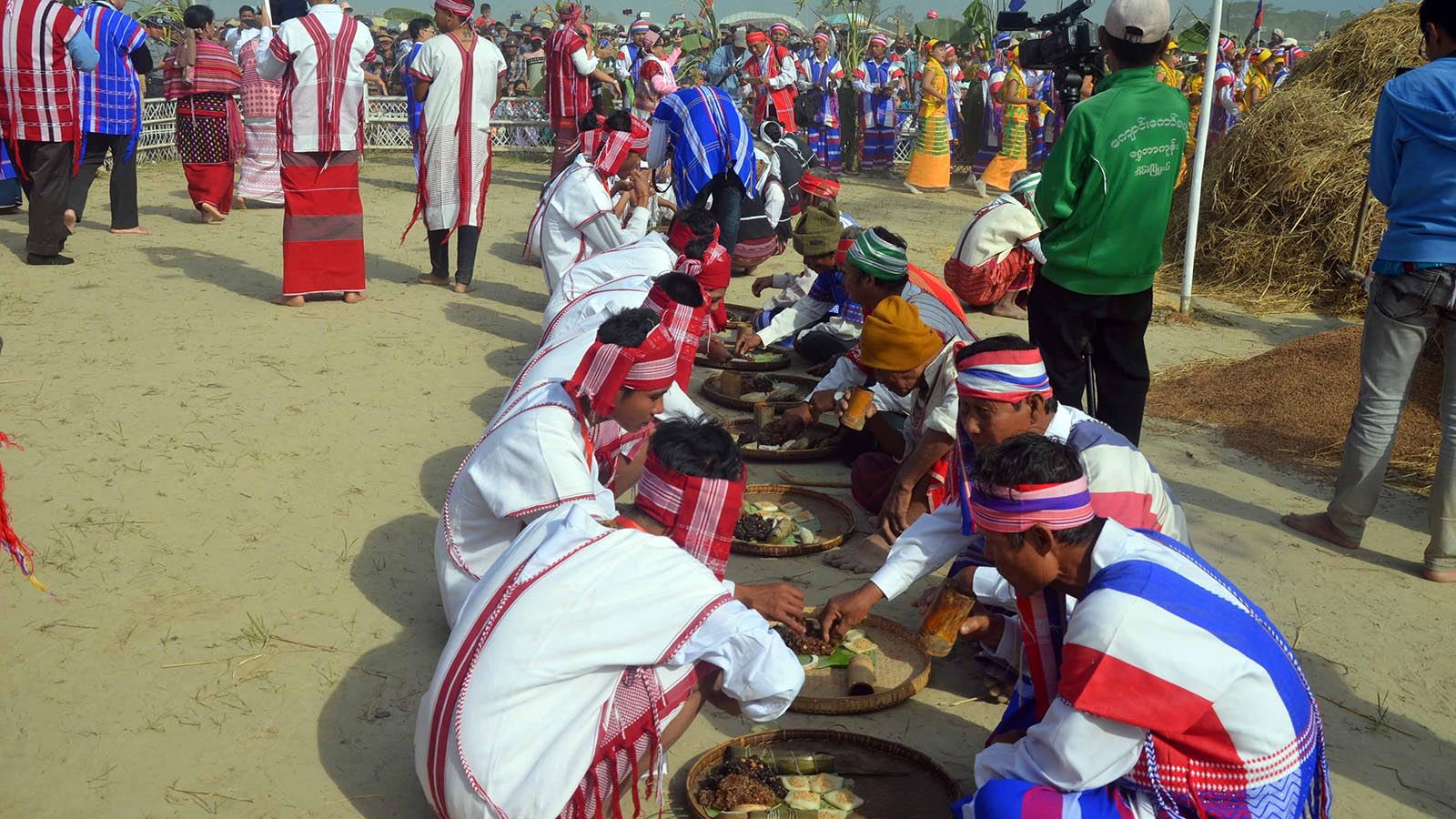 Kayin people enjoy traditional feast to celebrate the Kayin New Year Day.