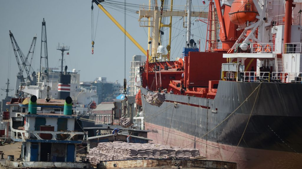 Myanmar's maritime trade makes up approximately 80 per cent of the country's total trade.photo: phoe khwar