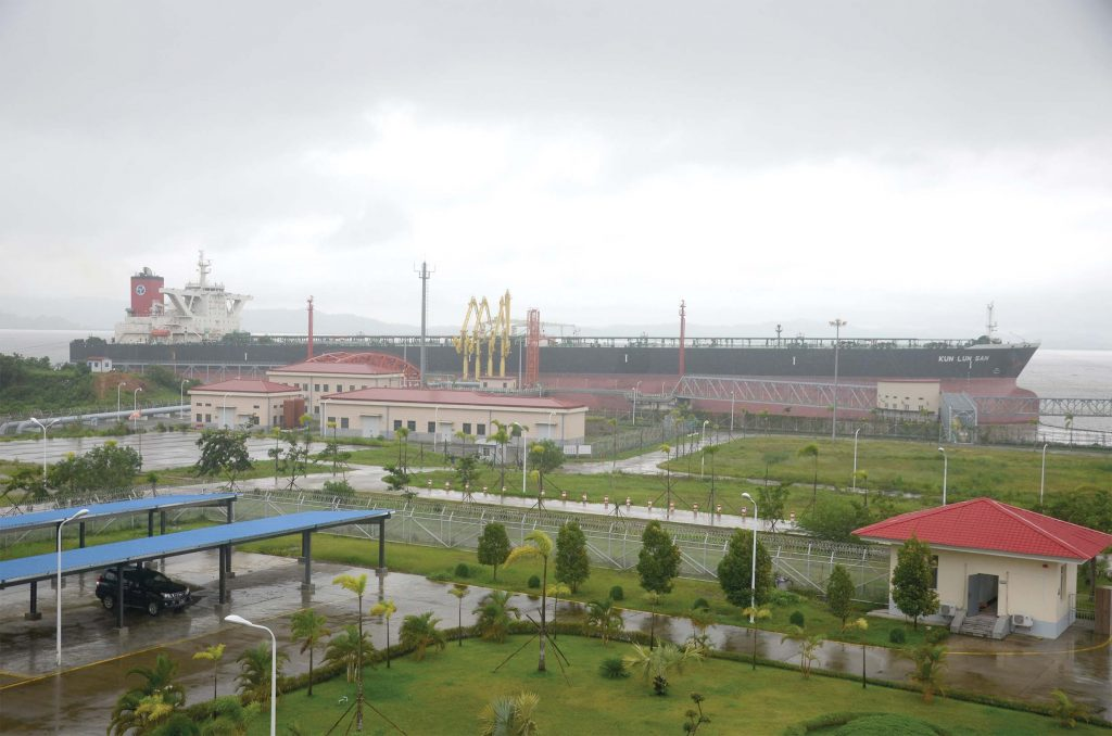 A huge petrochemical facility in Kyaukphyu: Initial Gas Station.Photo: Phoe Khwar