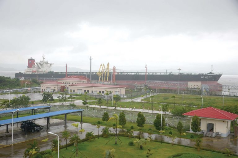 A huge petrochemical facility in Kyaukphyu: Initial Gas Station. Photo: Phoe Khwar