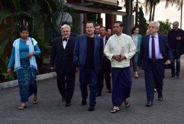 Serbia's First Deputy Prime Minister and Minister of Foreign Affairs departs from Yangon