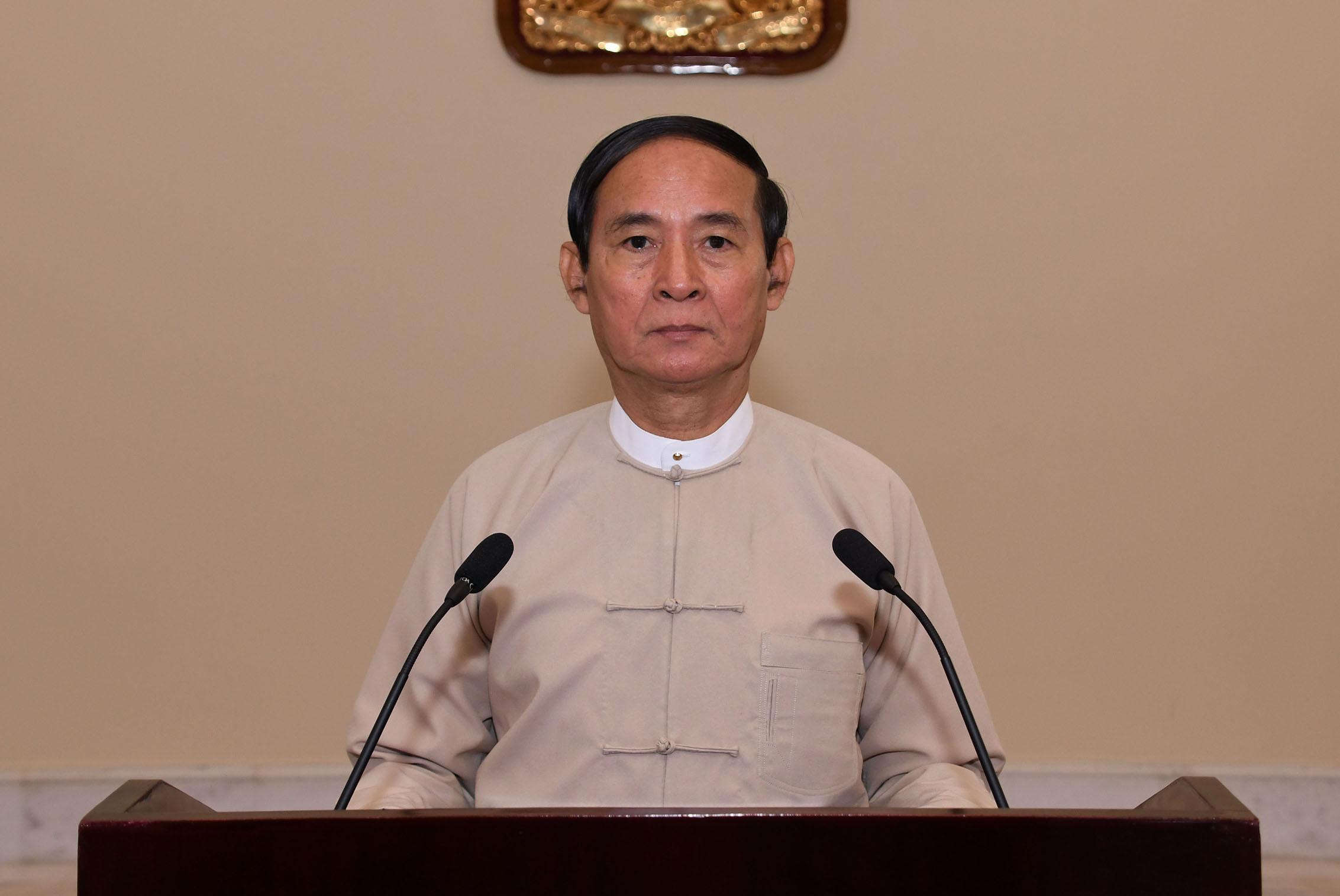 President U Win Myint.