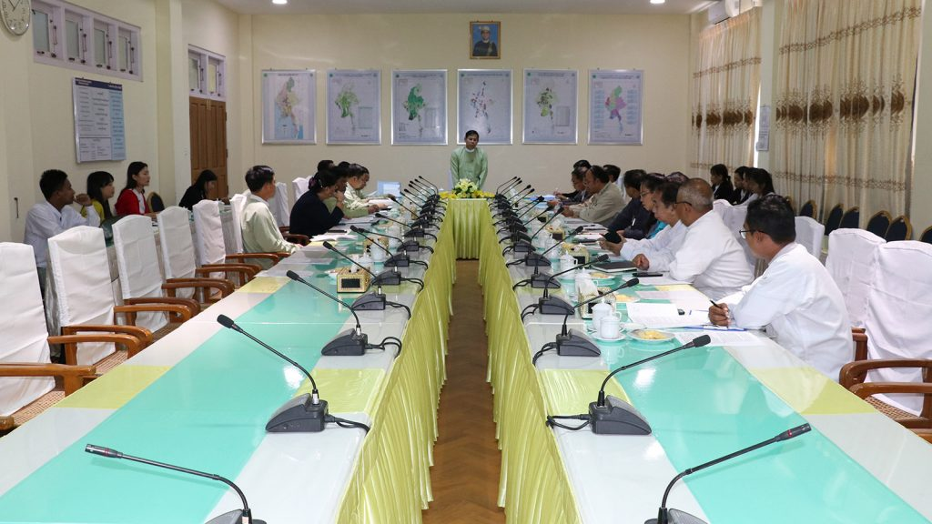 The preliminary meeting ahead of the 11th ASEAN Ministerial meeting on Rural Development and Poverty Reduction taking place in Nay Pyi Taw.photo: mna
