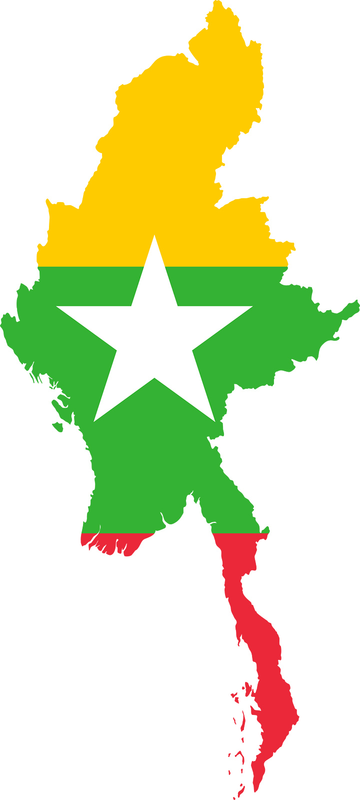myanmar map flag copy