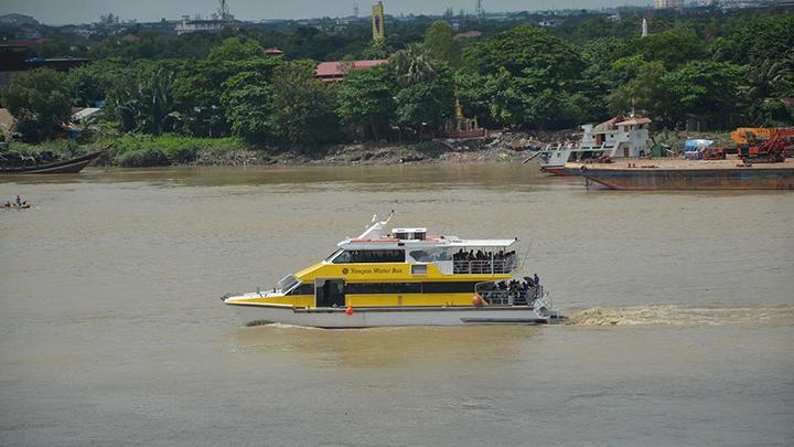 DSC 0176 3 A Yangon water bus is moving along Yangon River in Yangon. photo Zaw Gyi copy