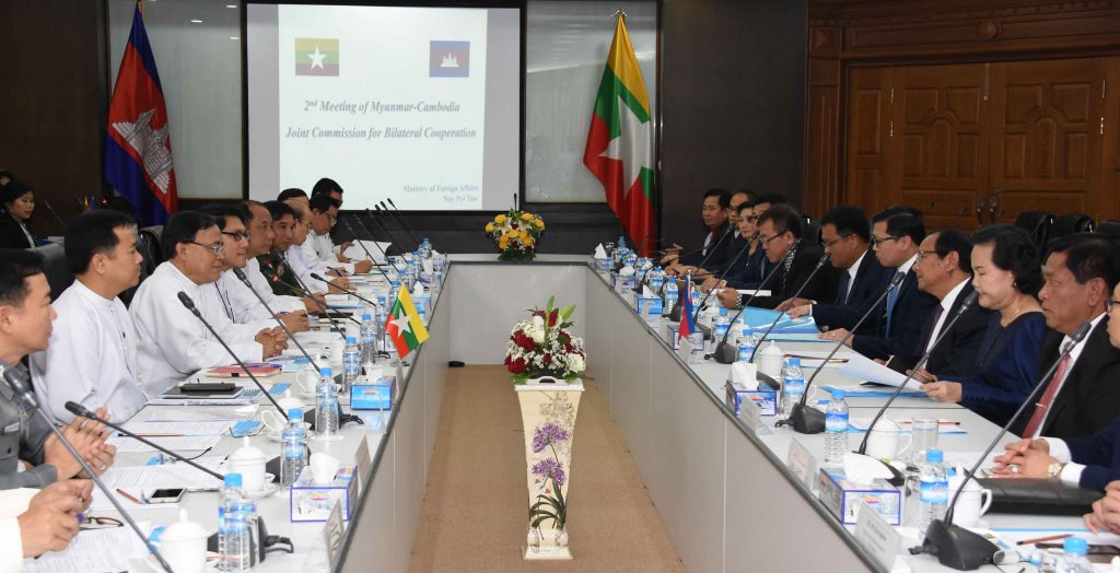 The 2nd Meeting of Joint Commission for Bilateral Cooperation between Myanmar and Cambodia being convened at the Ministry of Foreign Affairs in Nay Pyi Taw.Photo: MNA