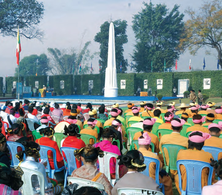 71st Union Day celebration was held in Panglong where Panglong Agreement was reached on 12 February 1947.