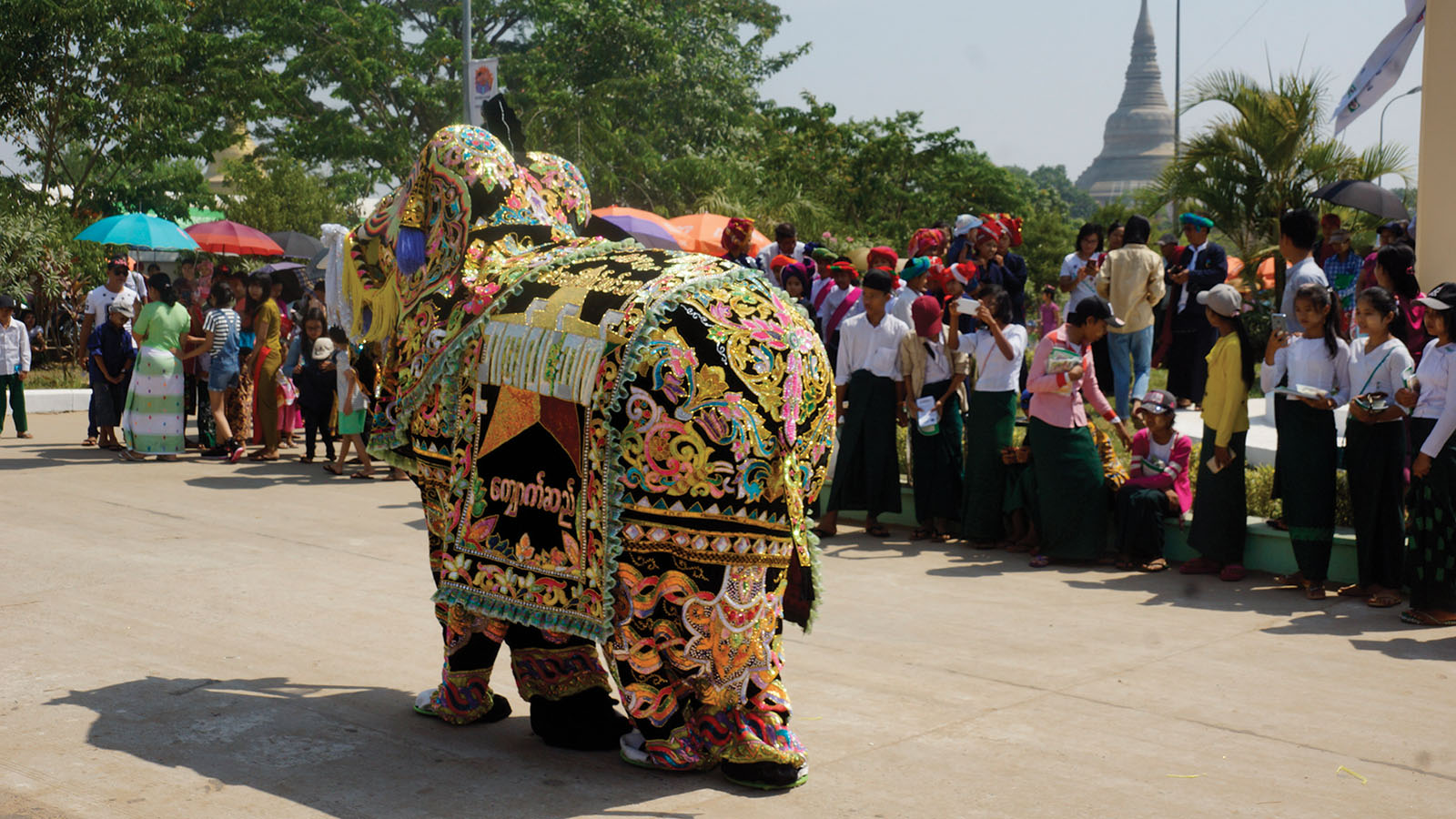 Kyaukse Elephant Dance seen at the festival.