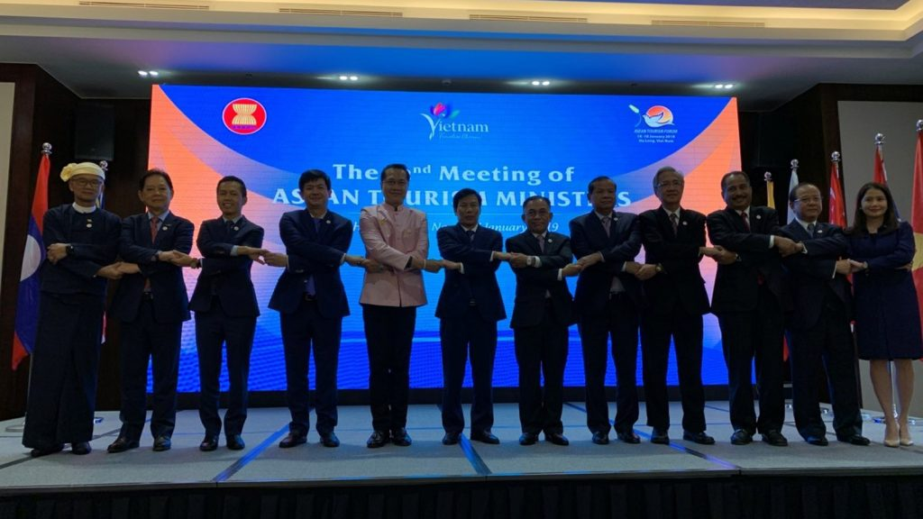 Union Minister U Ohn Maung attends the ASEAN Tourism Ministers Meeting in Viet Nam. Photo: MNA