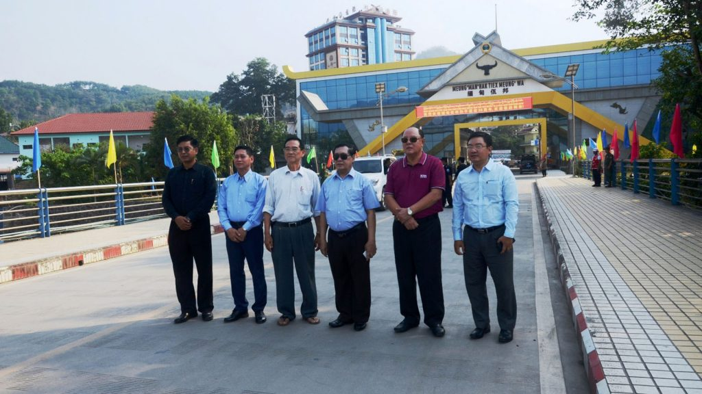 The government delegation led by Union Minister U Thein Swe visits Pangsang.Photo: MNA