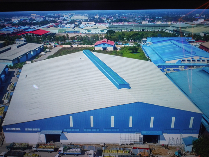 Caption 2. A bird s eye view of PEB Steel Myanmar s steel plant. copy