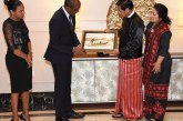 Vice President U Henry Van Thio hosts dinner for Seychelles Vice President and wife