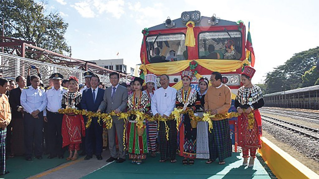The trains operating services from Myitkyina to Mandalay, are the first rail vehicles assembled in the country using CRRC technology.