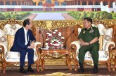 Commander-in-Chief of Defence Services receives Japanese Ambassador