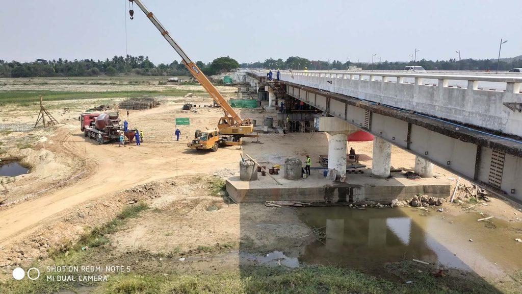 The Swa Chaung Bridge in Swa, Yadashe Township.Photo: MNA