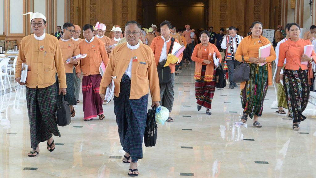 Hluttaw representatives seen at Pyidaungsu Hluttaw yesterday.Photo: MNA
