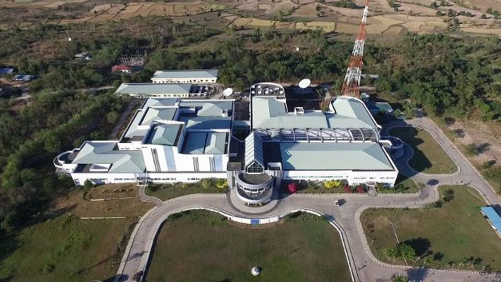 The aerial view of Myanma Radio and Television (MRTV) building in Nay Pyi Taw.