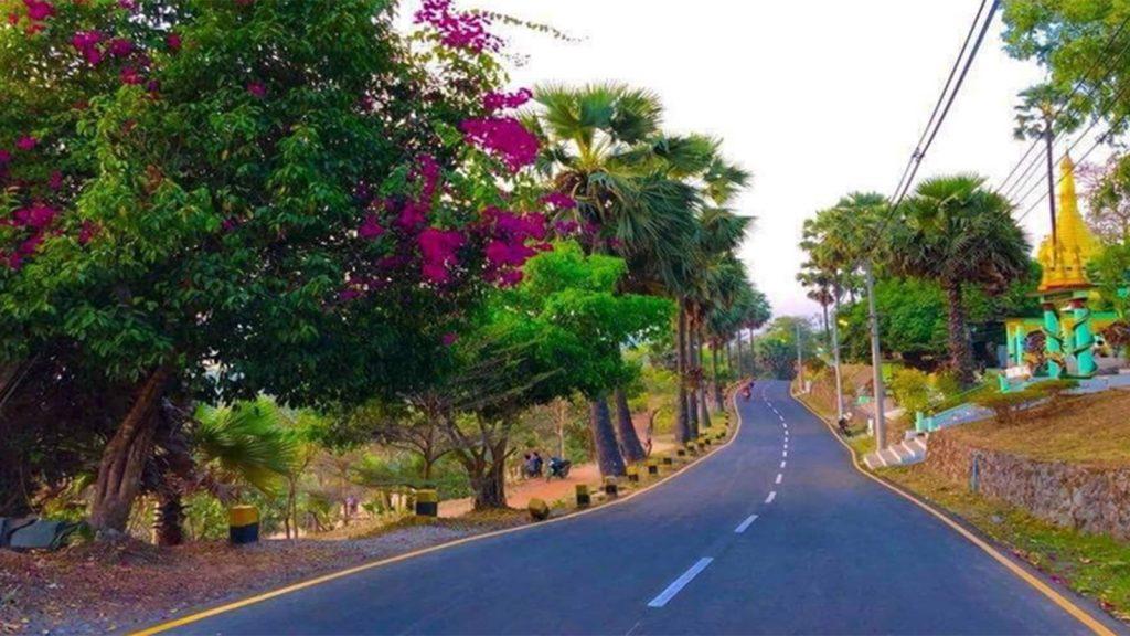 Taung Yoetan asphalt road constructed in Mawlamyaing Township.