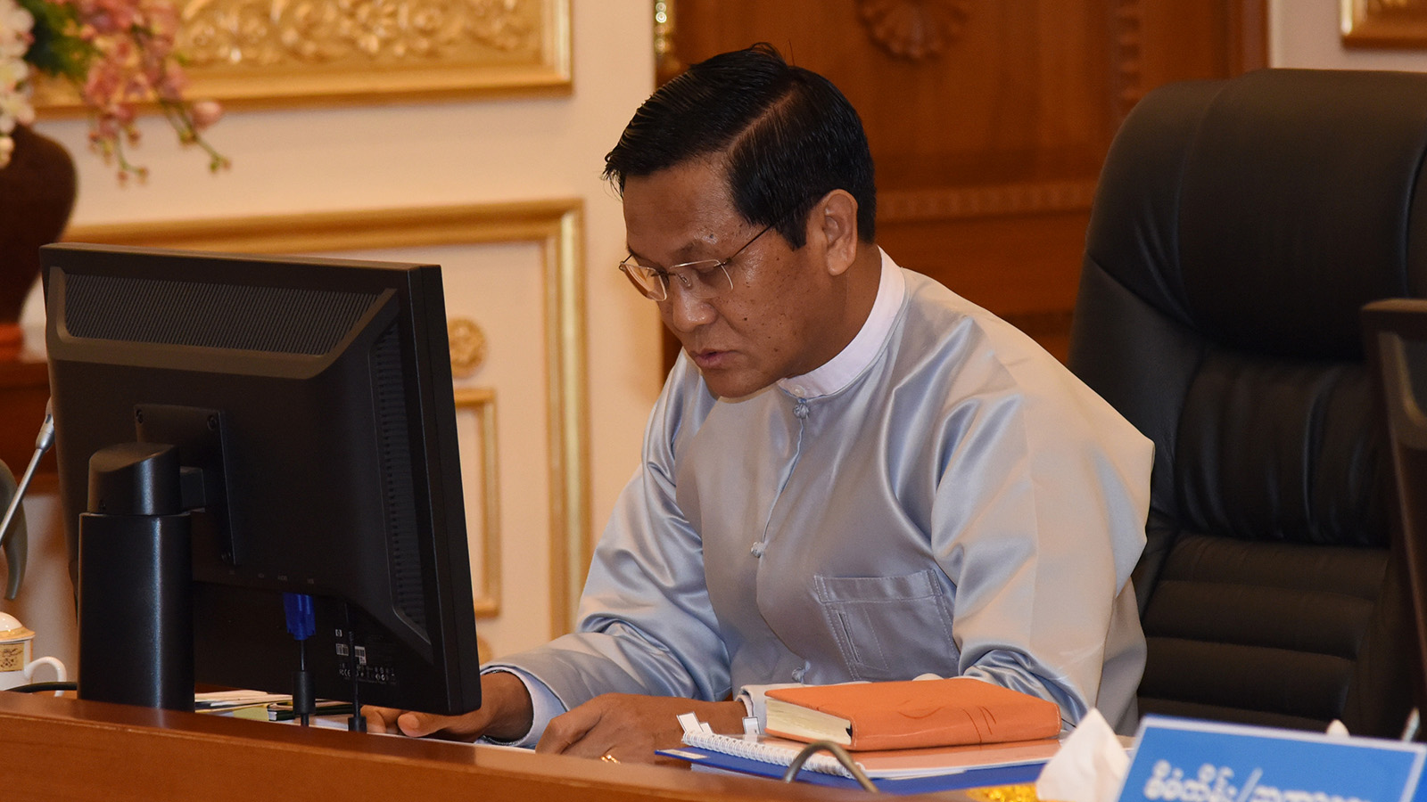 Vice President U Henry Van Thio makes remarks at the Finance Commission meeting 3/2019 at the Presidential Palace.Photo: MNA