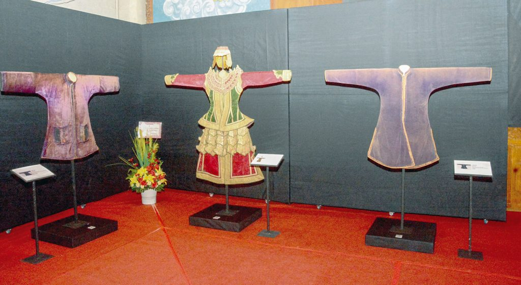 Shan Saophas' rare traditional costumes displayed at the exhibition. Photo: Myanmar Digital News