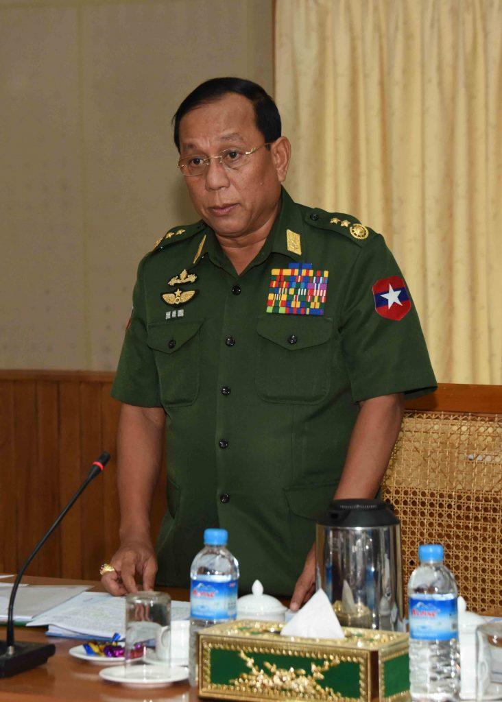 Union Minister Lt-Gen Ye Aung.