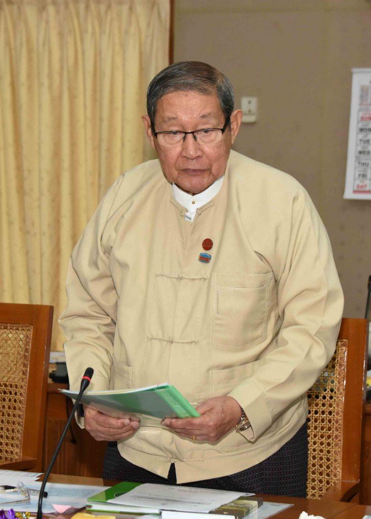 Union Minister U Soe Win.