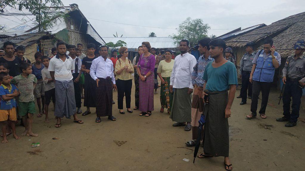 UNSG's Special Envoy Mrs Christine Schraner Burgener visits IDPs camp in Thatkel Pyin, Rakhine State.Photo: tun tun (iprd)