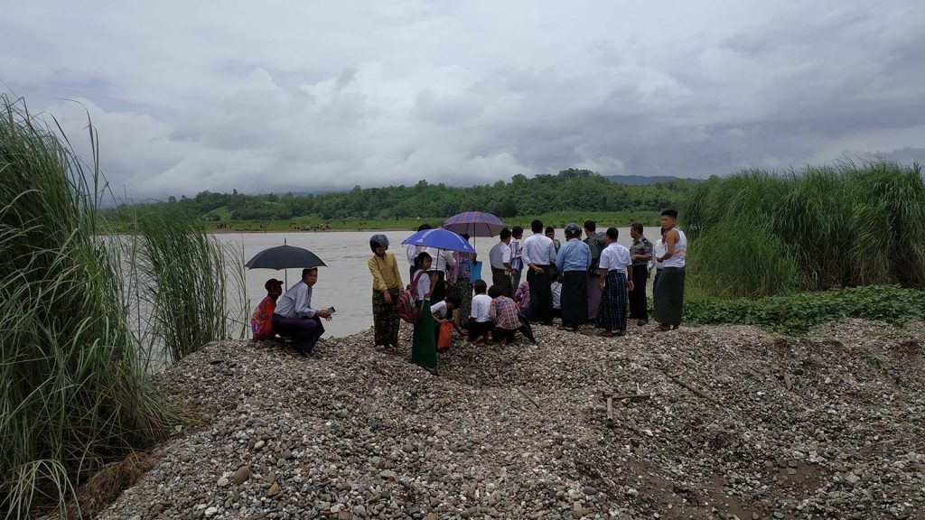 Township Administrator, Police and villagers conducting search for missing students in Mindon. Photo: Mindon IPRD