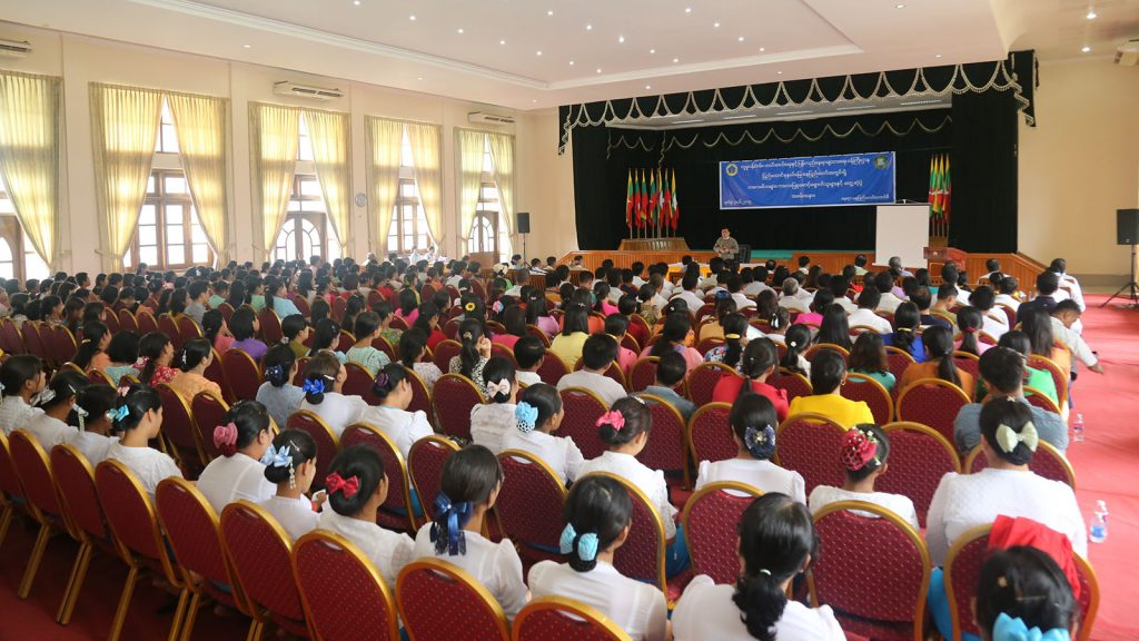 The ceremony to educate parents about early childhood development being convened in Nay Pyi Taw yesterday. Photo : MNA