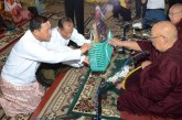 11th Waso robe offering in Uppatasanti Pagoda in Nay Pyi Taw