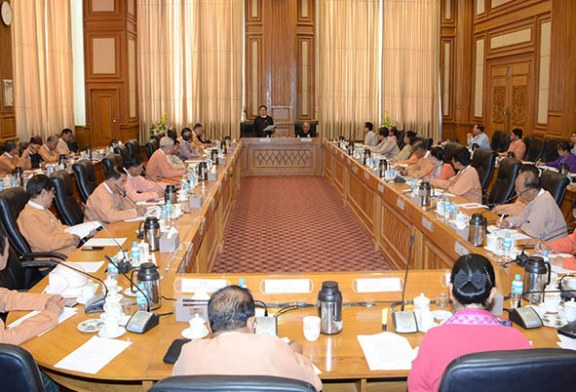 Pyidaungsu Hluttaw Speaker, committees hold meeting for National Planning Bill, the Union Budget Bill for 2019-2020 FY