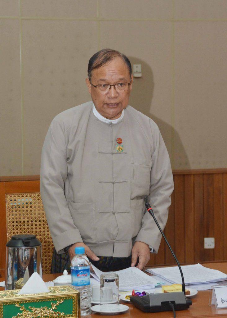 Union Minister U Thant Sin Maung.