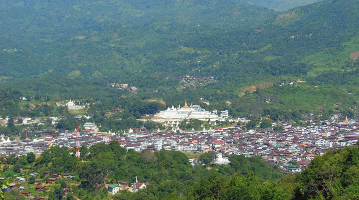 Photo shows the view of Mogok which is also known as Ruby Land. Photo: Maung Tha