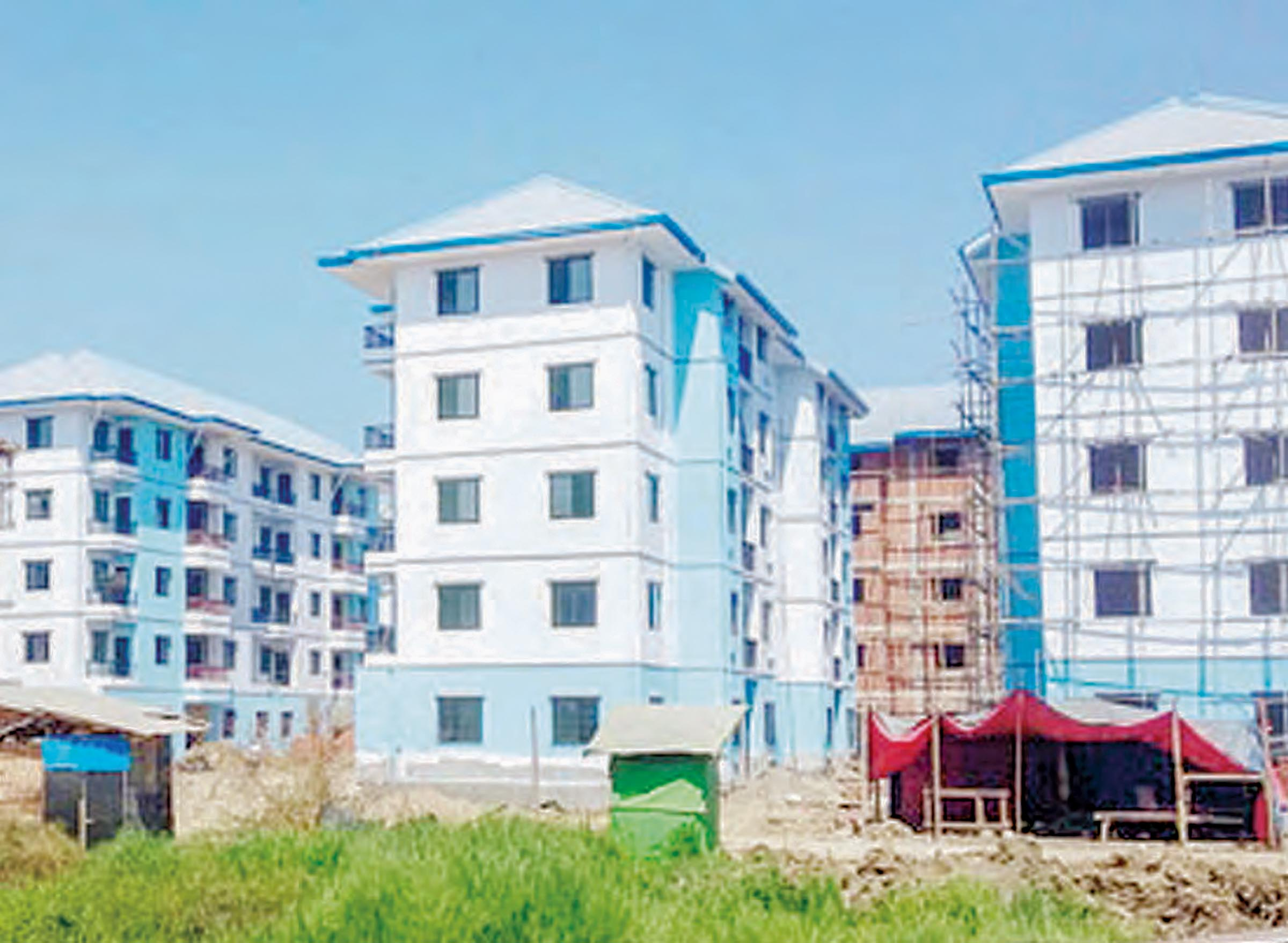 Fair-price housing being seen in Yangon. Photo: Khin Zunzar Linn