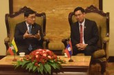 Union Minister Dr. Win Myat Aye meets Secretary General of Lao Youth Union