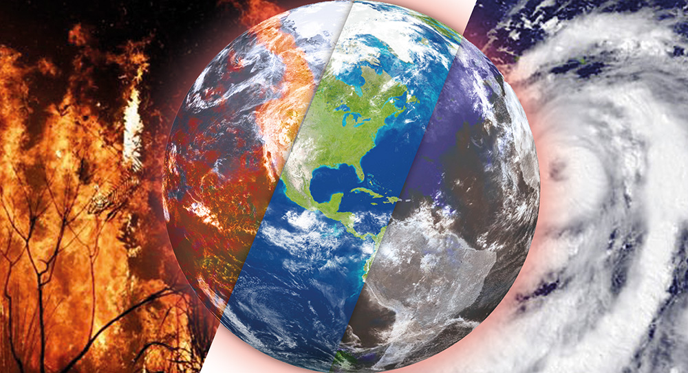 Unless the effects of Climate Change can be mitigated, there is no telling what the future holds for mankind.   Graphic image: BT