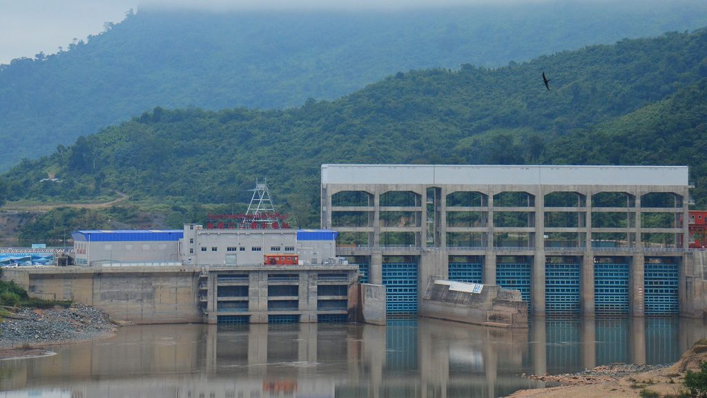 Photo taken on 12 Dec, 2016 shows the first stage's No. 2 hydropower station of the Power China-contracted project in Luang Prabang Province, north Laos. Photo: Xinhua