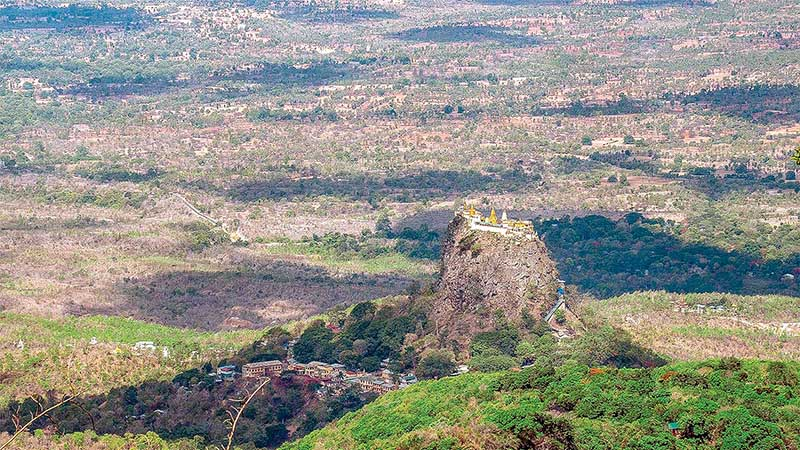 An area spanning over 360 square miles around Mandalay Region's Mount Popa has good potential as a UNESCO Global Geopark site.  Photo: Chan Thar (Meikhtila)