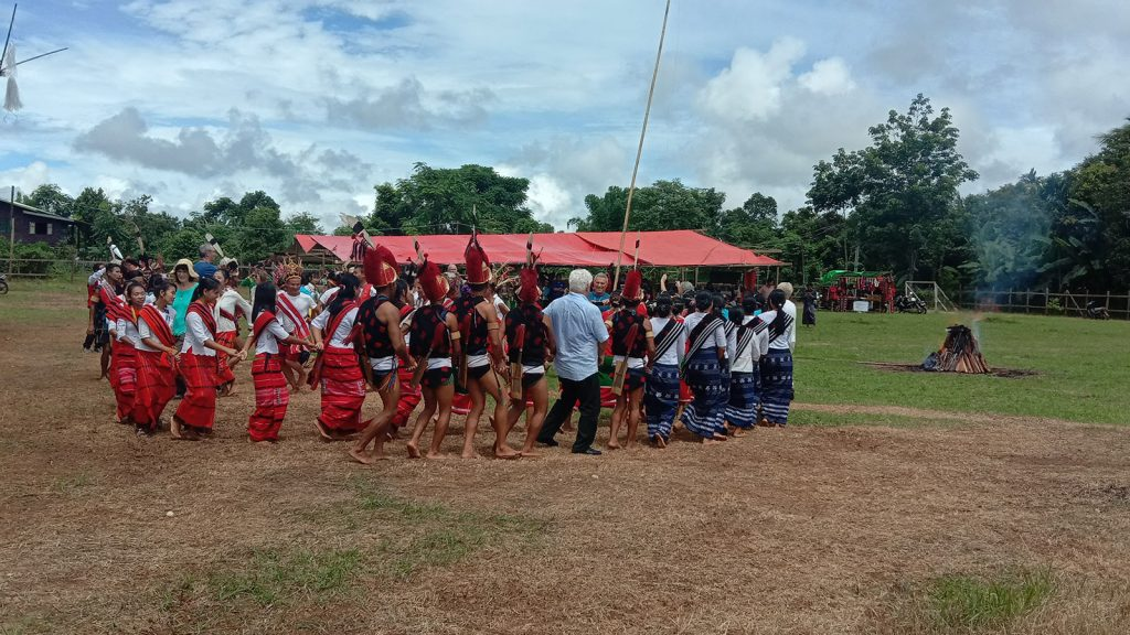 Naga ethnic people entertain the tourists at the Naga Literature and Cultural Grounds in Homalin on 14 September.Photo: Lin Lin