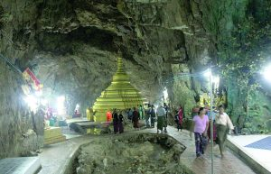 Peik Chin Myaung cave pagodas
