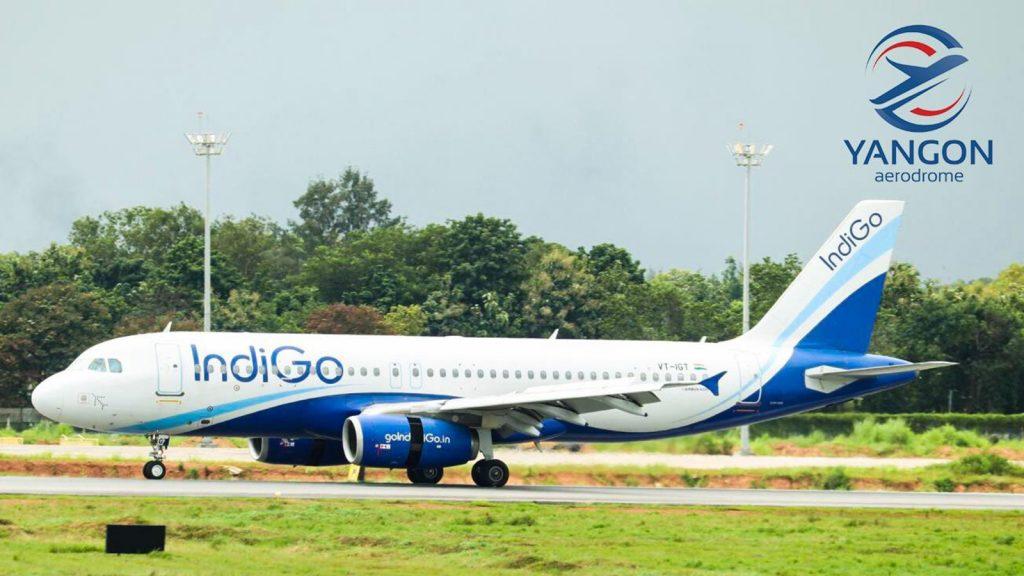 Welcoming IndiGo's inaugural flight at Yangon International Airport Terminal 1 yesterday.
