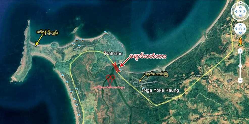 The Chaungwa bridge will be located along the coast on the Ngayokekaung-Gawyingyi Road in Ayeyawady Region.Photo: Soe Myint Aung