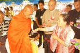 Amyotha Hluttaw Speaker donates offertories to Buddhist monks