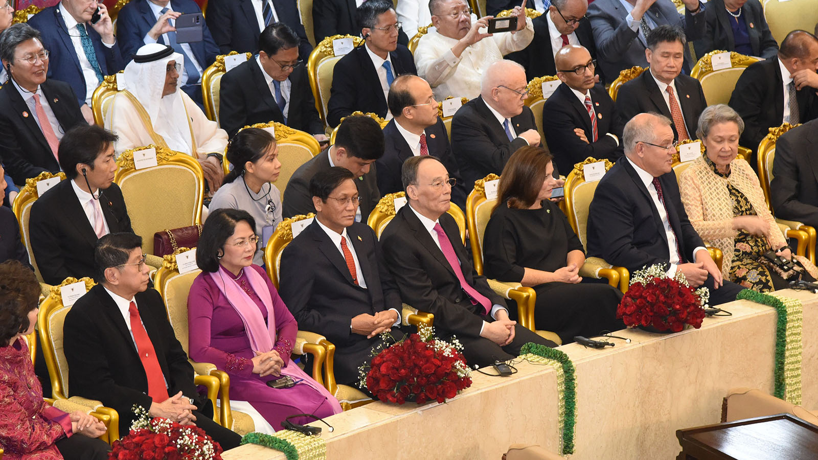 Vice President U Henry Van Thio attends the swearing-in ceremony of Indonesian government, together with the heads and senior officials of ASEAN and its partner countries.  Photo: MNA