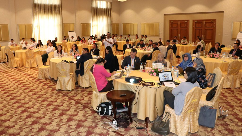 A workshop on ASEAN Framework Action Plan on Rural Development and Poverty Eradication Work Plan 2021-2025 held in Nay Pyi Taw yesterday.Photo: MNA