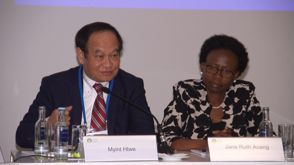 Union Minister for Health & Sports Dr Myint Htwe attends World Health Summit 2019 in Berlin, Germany.Photo: MNA