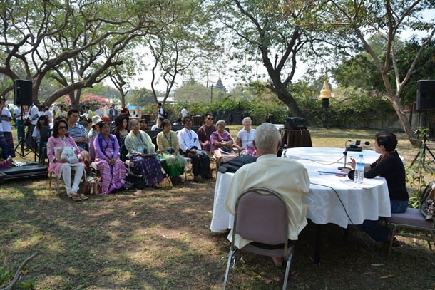 image1 International Panel discussion in the garden of Mandalay Hill Resort in 2015.