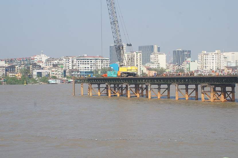 Image result for Yangon-Dala bridge Foundation